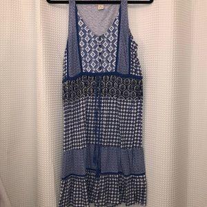 Blue patterned dress